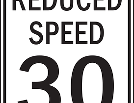 reduce speed limit
