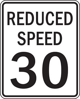 reduce speed limit